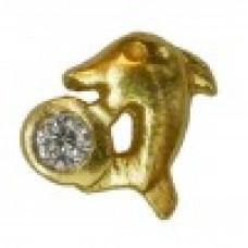 Zahnschmuck Twinkles Delfin Gold mit Diamant 0.02ct