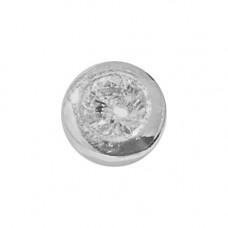 Zahnschmuck Twinkles kreis Weissgold mit Diamant 0.01ct