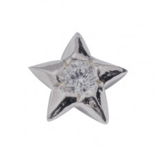 Zahnschmuck Twinkles Stern Weissgold mit Diamant 0.02ct
