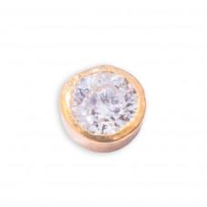 Zahnschmuck Twinkles Gold Kreis mit Diamant 0.01ct