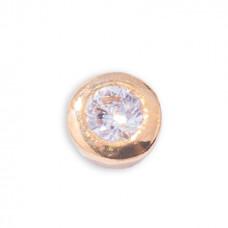 Zahnschmuck Twinkles Kreis Rund Gold klein 0.01ct