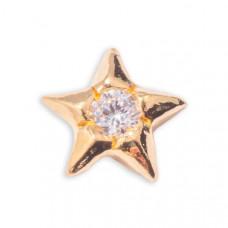 Zahnschmuck Twinkles Stern Gold mit Diamant 0.02ct